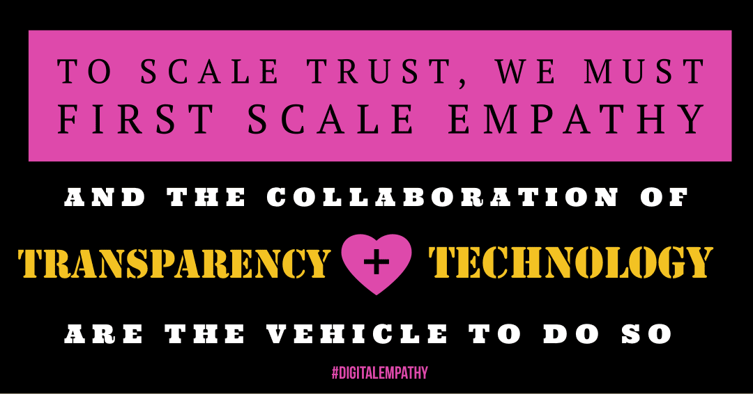 Empathy Transparency Technology Quote