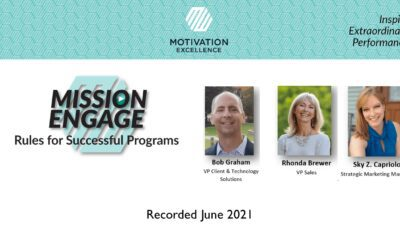 Mission Engage; Rules for Successful Programs